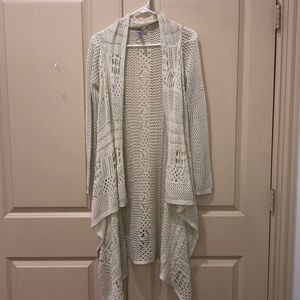 white/cream cardigan